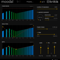Moodal 1.1 Graphical User Interface - dark theme